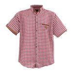 Kariertes Hemd von Lavecchia -  rot, weiß - 3XL bis 7XL