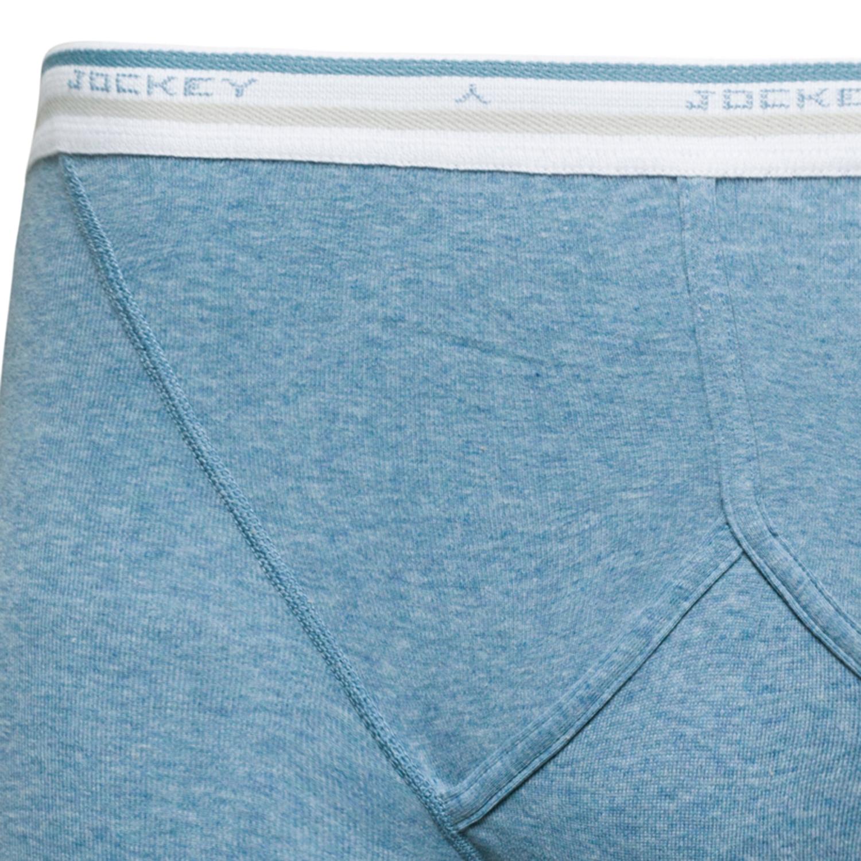 """Detailbild zu Jockey Feinripp Unterhose """"Midway Brief"""" in stahlblau meliert - Größe S bis 2XL"""