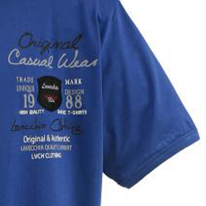 Detailbild zu T-Shirt indigo-blau von Lavecchia in Übergrößen bis 8XL