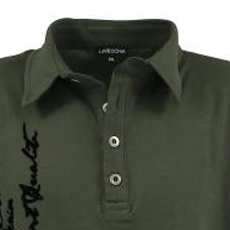 Detailbild zu Poloshirt khaki von Lavecchia in Übergrößen bis 8XL