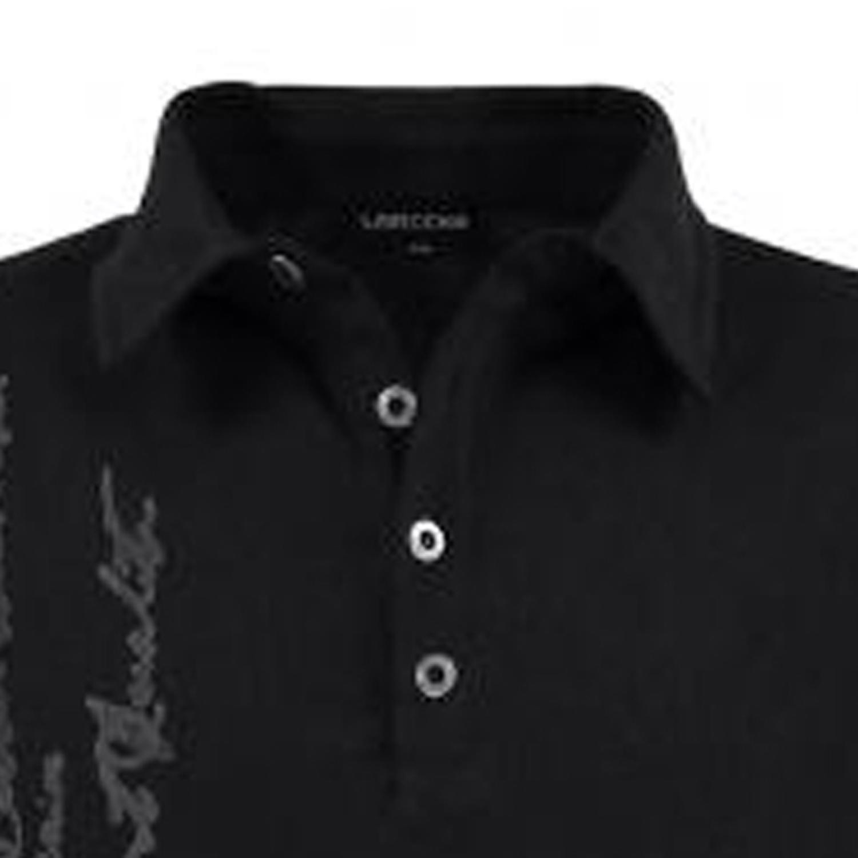 Detailbild zu Poloshirt schwarz von Lavecchia in Übergrößen bis 8XL