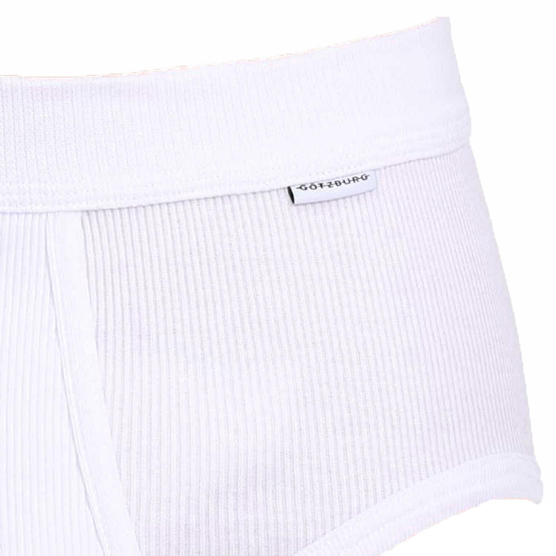 Herren Doppelripp Pant weiß Unterwäsche Boxershorts Unterhose Übergröße 8 bis 12