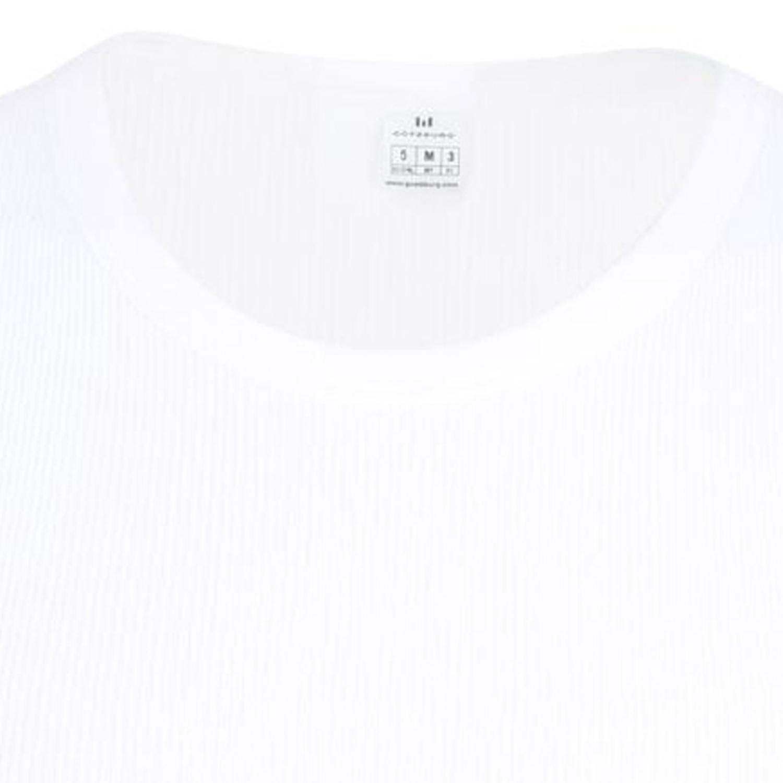 Detailbild zu Kurzarm Unterhemd weiß in Premium Doppelripp von Götzburg in großen Größen bis 12