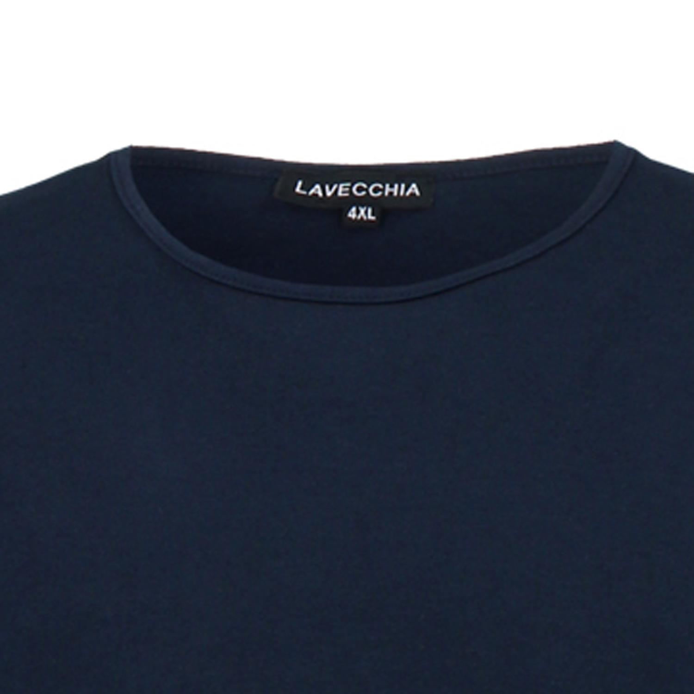 Detailbild zu T-Shirt von Lavecchia in Übergrößen bis 8XL dunkelblau