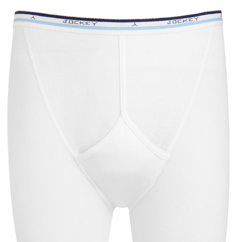 Detailbild zu Weiße Overknee Hose in Feinripp von Jockey bis Größe 2XL