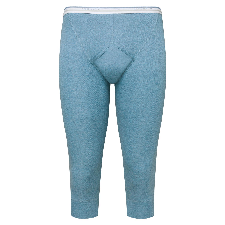 Detailbild zu Stahlblaue dreiviertel lange Unterhose in Feinripp von Jockey bis Größe 2XL