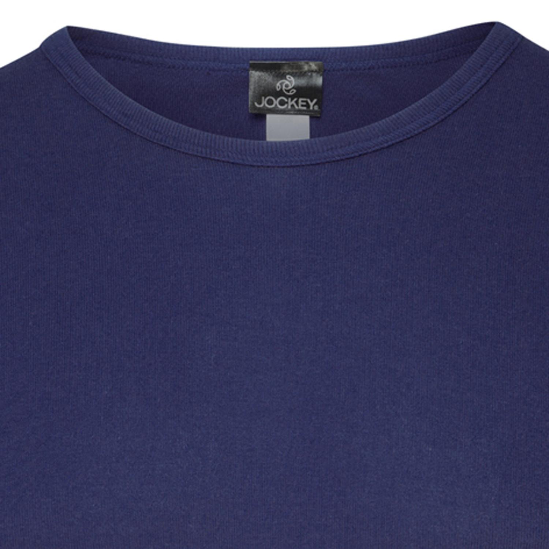 ab4aa1c4507930 Feinripp T-Shirt von JOCKEY dunkelblau für Herren in den Größen S - XXL