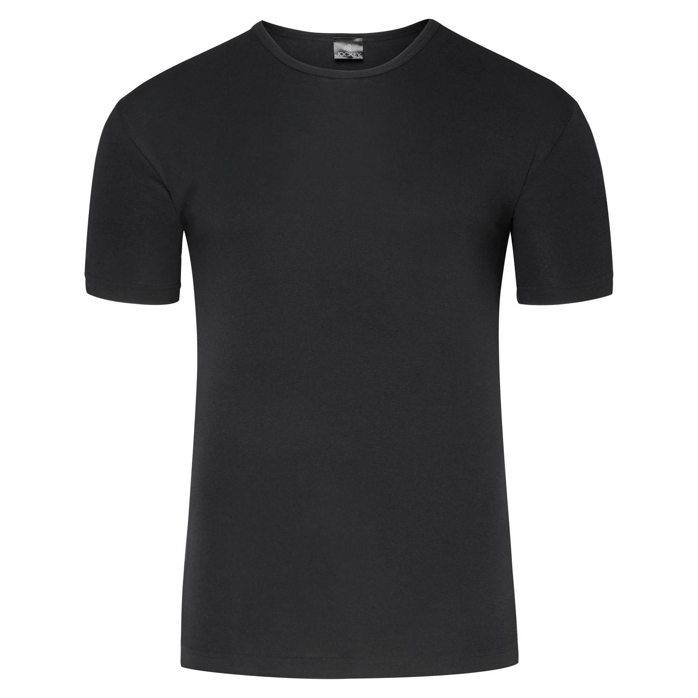 Detailbild zu Schwarzes Feinripp Unterhemd kurzarm von JOCKEY in den Größen S bis XXL
