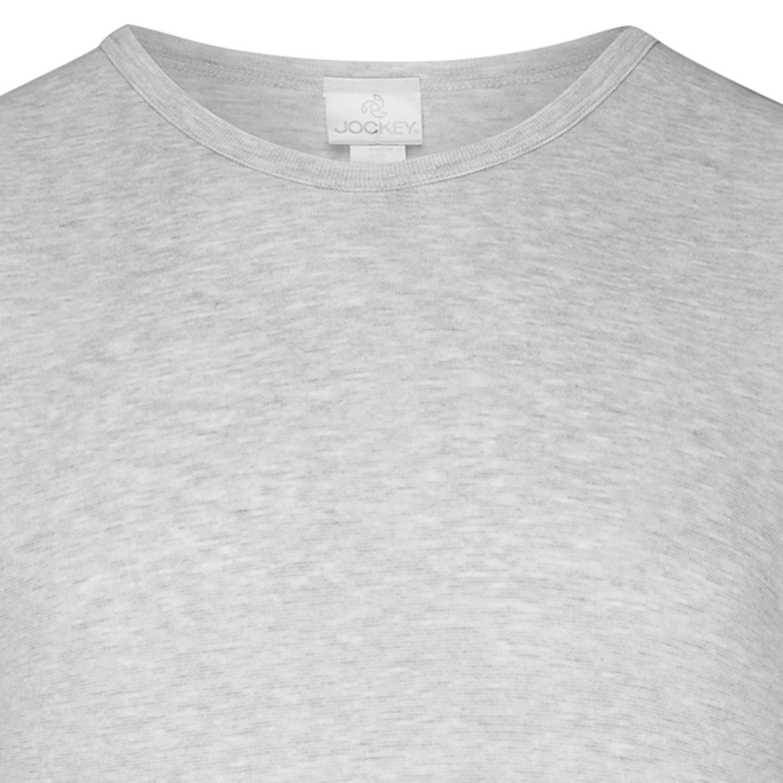 f9731f478f6029 Feinripp T-Shirt kurzarm von JOCKEY graumeliert Gr. S - XXL für Herren
