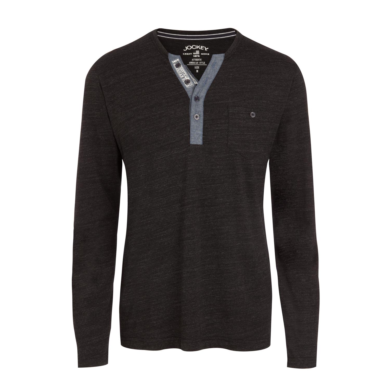 Detailbild zu Herren Long Shirt dunkelgrau von JOCKEY in S - 6XL