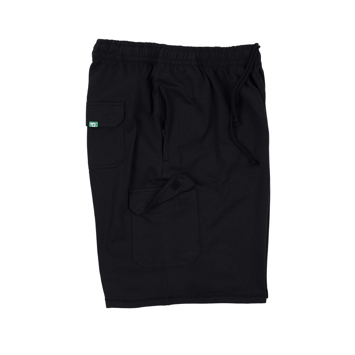 """Detail Image to D555 black short jogging trousers """"John"""" up to 8XL by Duke"""