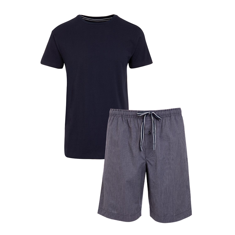 Detailbild zu Kurzer Herren Pyjama in dunkelblau von JOCKEY in Größen S bis 3XL