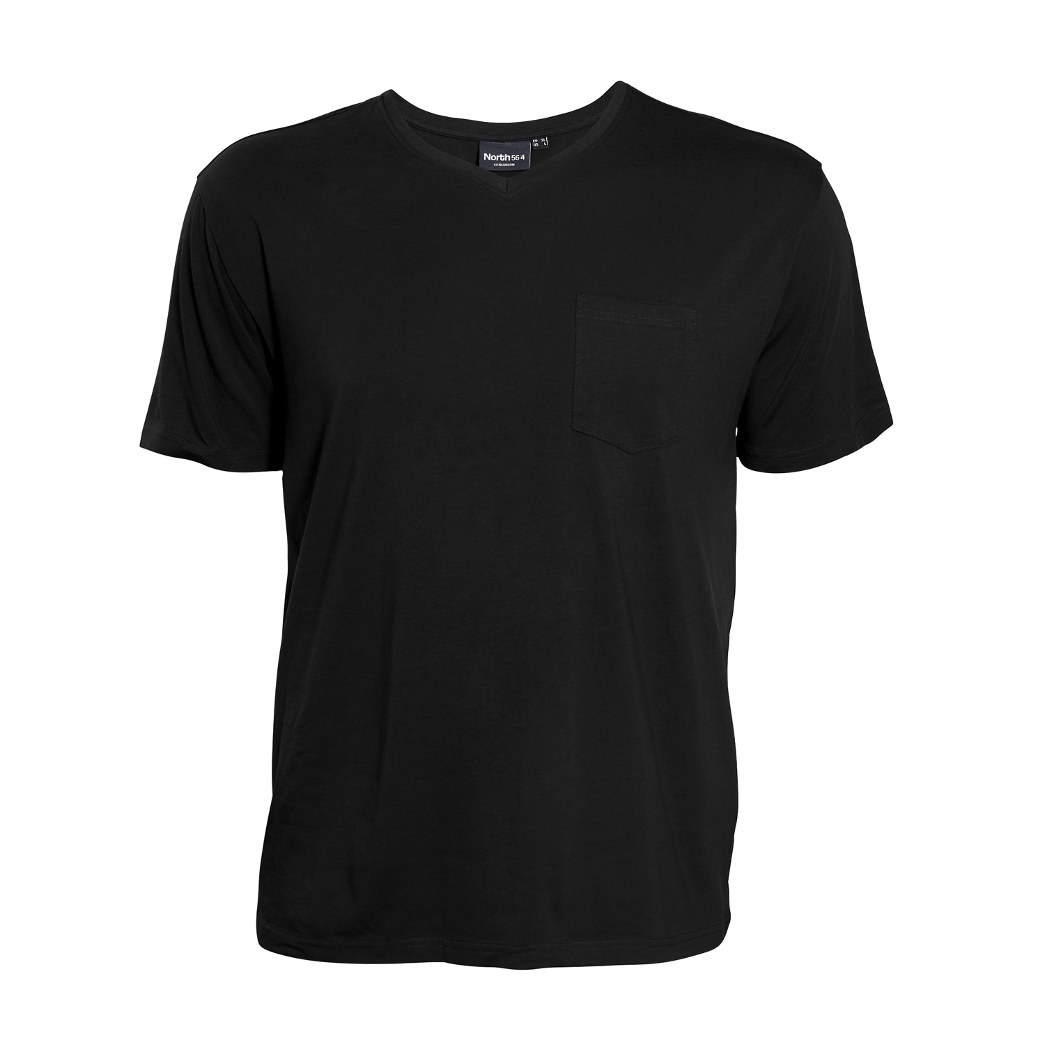 Detail Image to Black T-Shirt for men by North 56°4 in oversizes up to 8XL