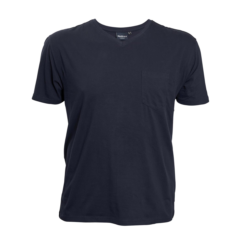 Detailbild zu Dunkelblaues T-Shirt für Herren bis Übergröße 8XL von North 56°4