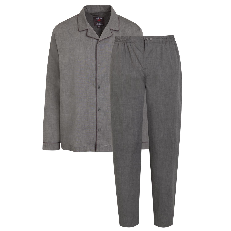 Detailbild zu Herren Pyjama lang mit geknöpftem Oberteil von JOCKEY in den Größen S bis Übergröße 6XL
