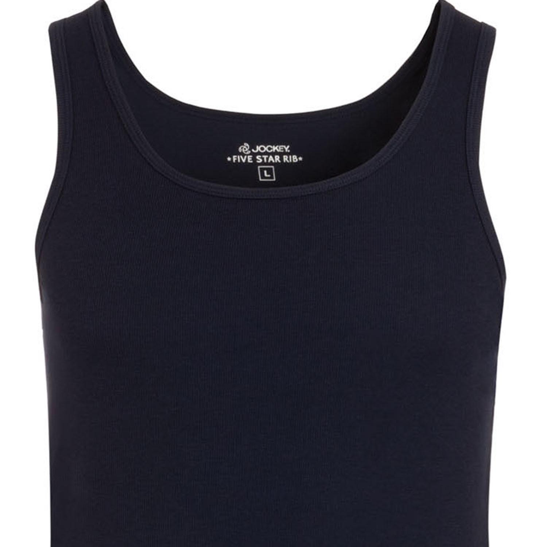 Detailbild zu Jockey Doppelripp Shirt ohne Arm in navy ab Größe S bis 2XL