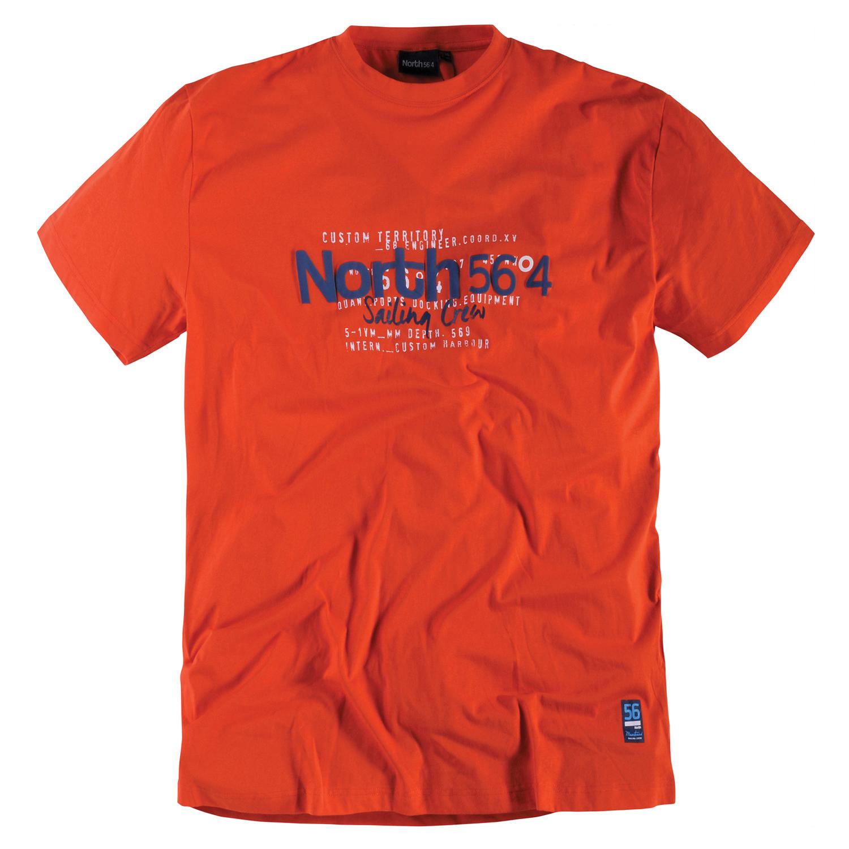 Detailbild zu Übergrößen Herren T-Shirt orange von North 56°4 in Größen 3XL - 5XL
