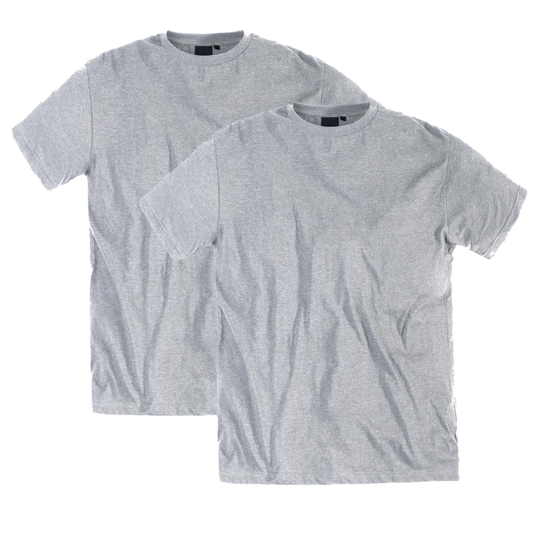 Detailbild zu Übergrößen T-Shirt für Männer in graumeliert von Replika bis 8XL im 2er Pack