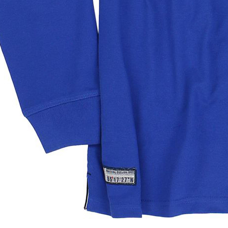 Detailbild zu Blaues Langarm Poloshirt von Redfield in großen Größen von 3XL bis 8XL