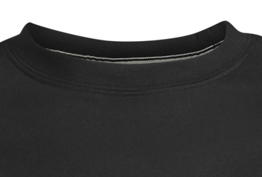 Detail Image to Black basic t-shirt with crew neck by North56°4 in oversizes up to 8XL