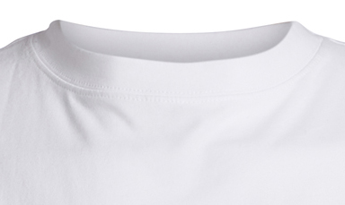 Detail Image to Basic t-shirt in white by North 56°4 in extra large sizes until 8XL