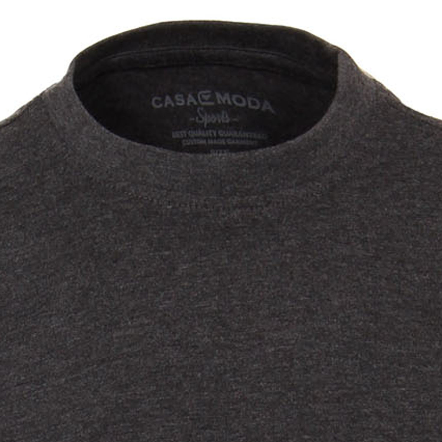 Detail Image to Basic T-shirt for men in heather gray by Casamoda in plus size up to 6XL