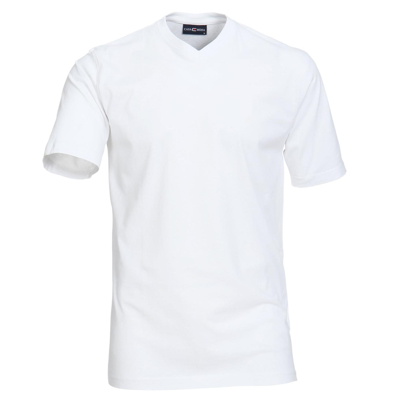 Detailbild zu Basic Shirt 2er Pack V-Neck für Herren in weiss von Casamoda in Übergrößen bis 6XL