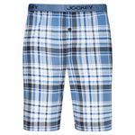Jockey pyjama short for men, blue checked in large sizes up to 6XL