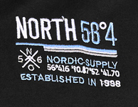 Detail Image to Black sweat jacket for men by North 56°4 in oversizes up to 8XL