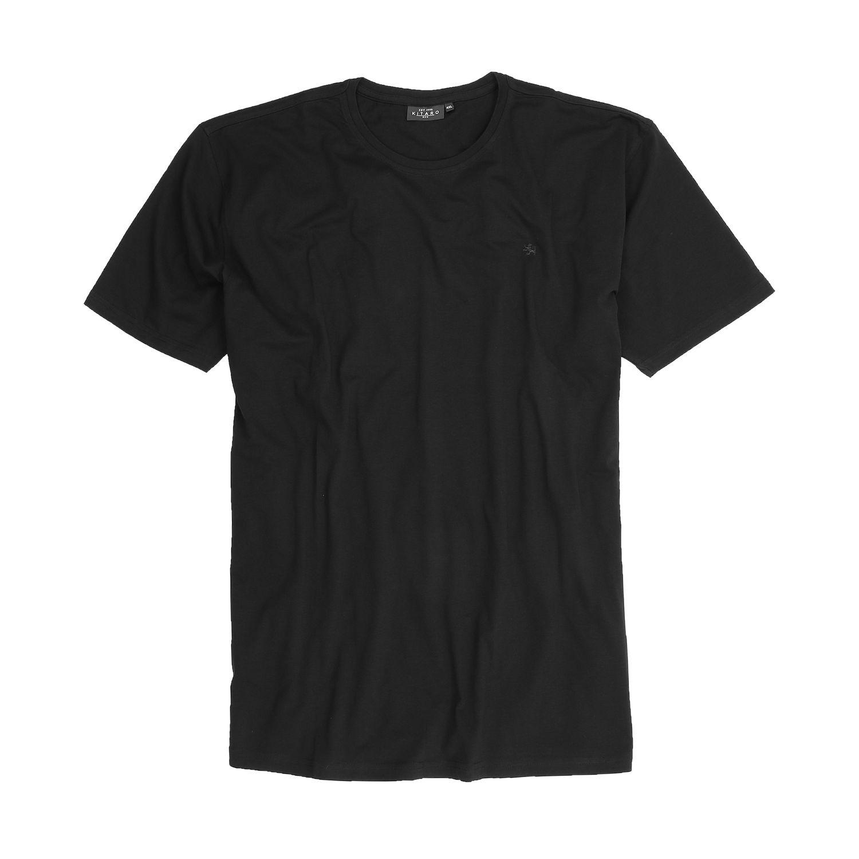 Detailbild zu T-Shirt mit Rundhalsausschnitt schwarz von Kitaro für Herren in Übergrößen 2XL - 7XL