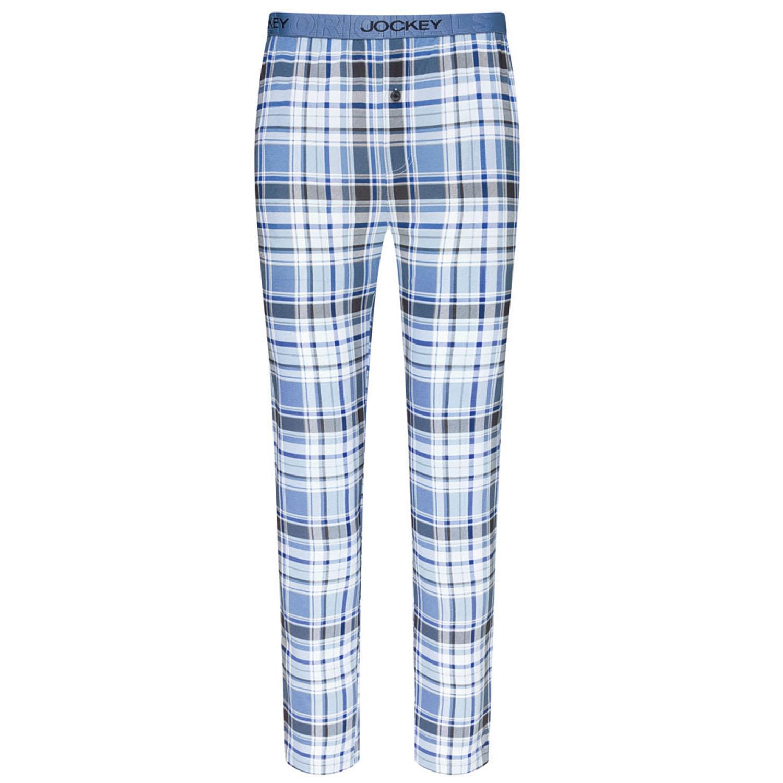 Detailbild zu Pyjamahose für Herren von Jockey in Normal- und Übergrößen S - 6XL jeansblau-kariert