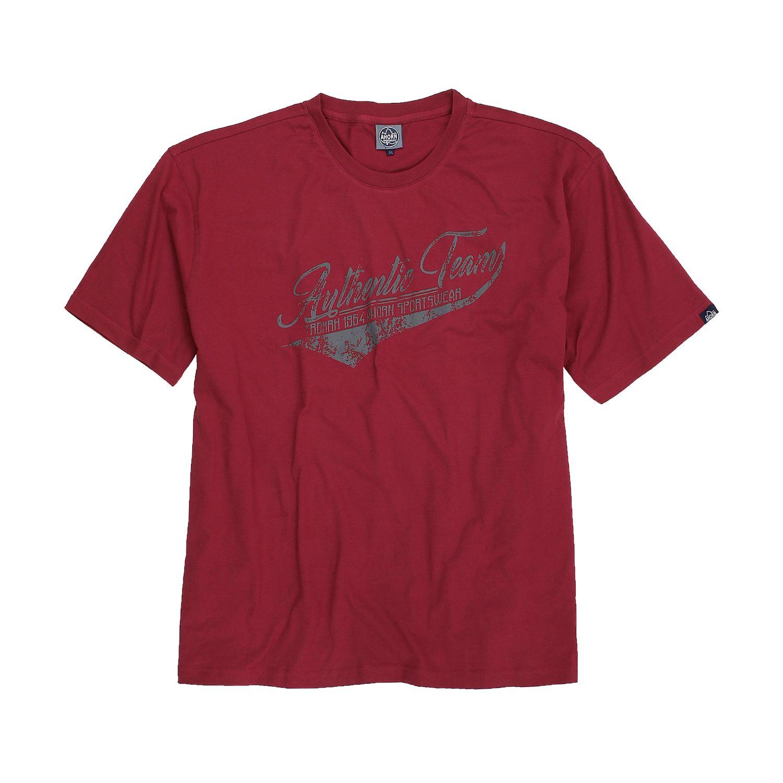 Detailbild zu Herren T-Shirt in dunkelrot von Ahorn in Übergrößen 3XL - 10XL