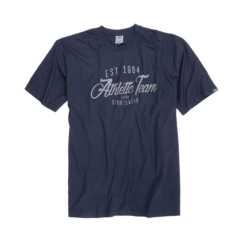 Detailbild zu T-Shirt in dunkelblau für Herren in Übergrößen 3XL - 10XL von Ahorn
