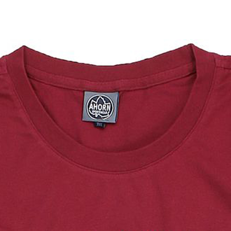dunkelrotes t shirt bedruckt von ahorn sportswear in. Black Bedroom Furniture Sets. Home Design Ideas