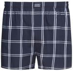 Boxershorts in dark blue checkered by Jockey up to oversize 6XL