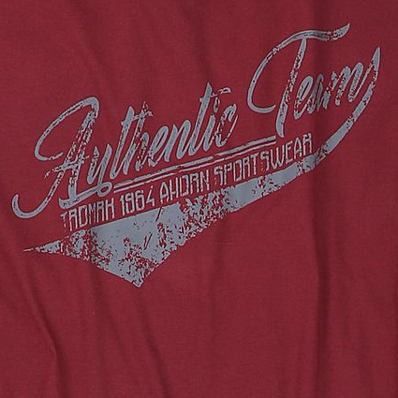 Detailbild zu Dunkelrotes Shirt für Herren langarm in großen Größen bis 10XL von Ahorn Sportswear