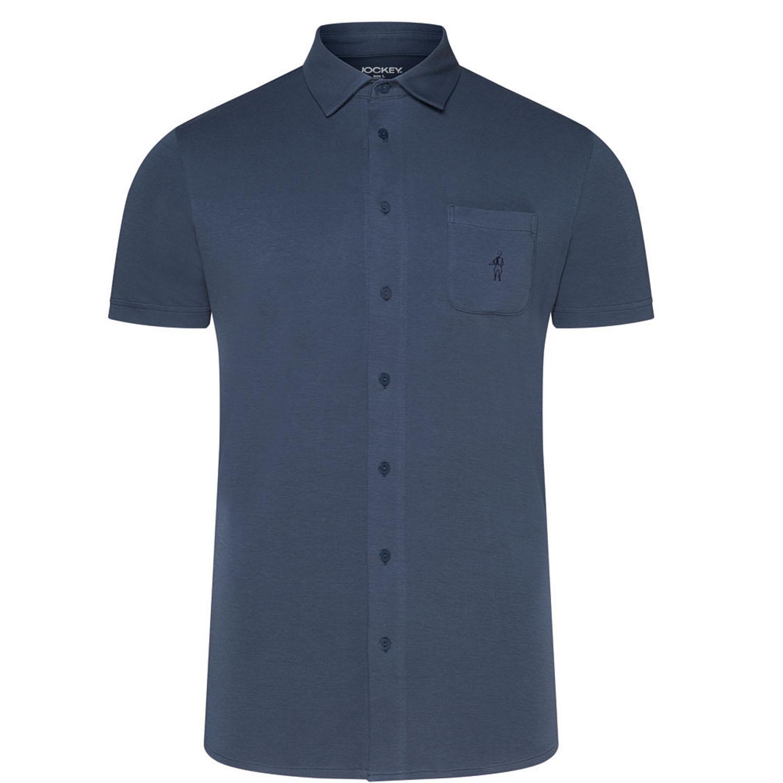 Detailbild zu Dunkelblaues Kurzarmhemd für Herren bis Übergröße 3XL von Jockey
