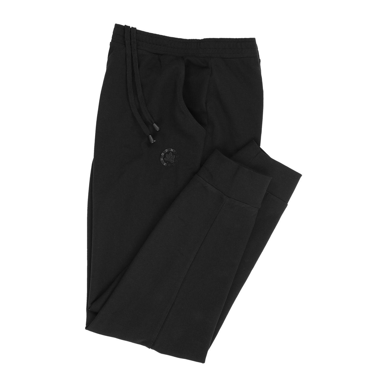 Image de détail de Pantalon de jogging noir pour homme par Ahorn Sportswear en surtaille jusqu'à 10XL