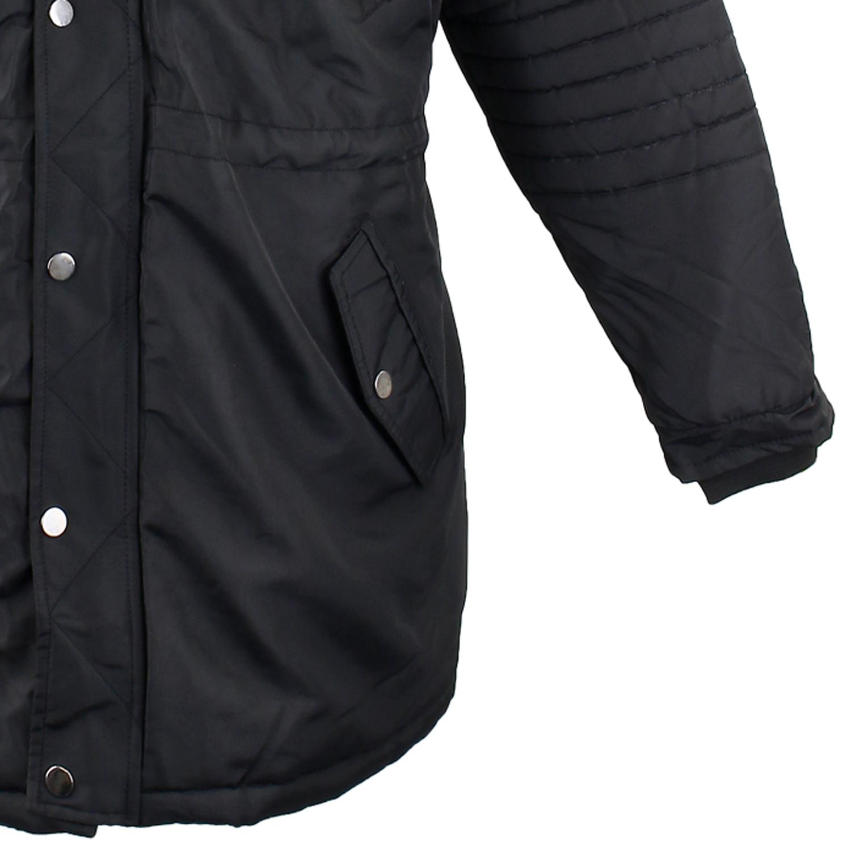 Detailbild zu Winterjacke für Herren von Lavecchia schwarz in Übergrößen 3XL - 7XL