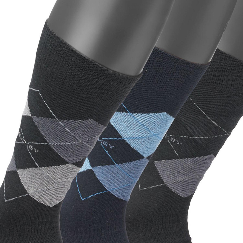 Image de détail de 3 paires de chaussettes pour hommes de JOCKEY bleu/noir/gris à motifs