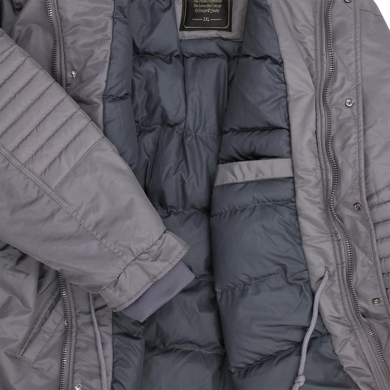 Herren Winterjacke in großen Größen bis 7XL von Lavecchia grau