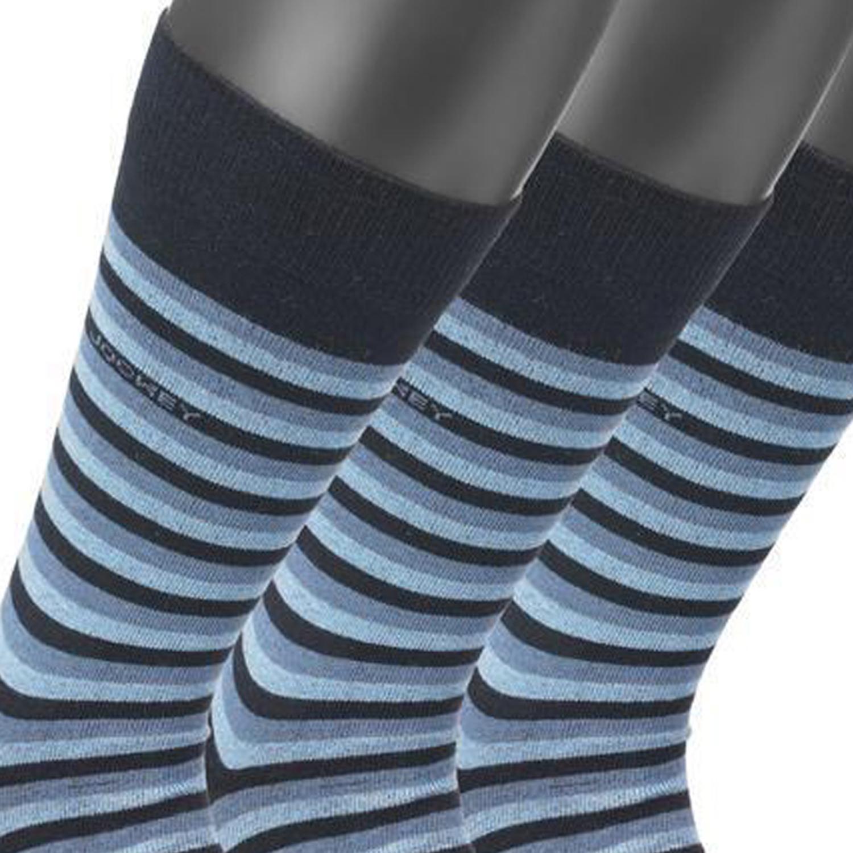 Detailbild zu Strümpfe für Männer von Jockey im 3er Pack blau gestreift bis Größe 46