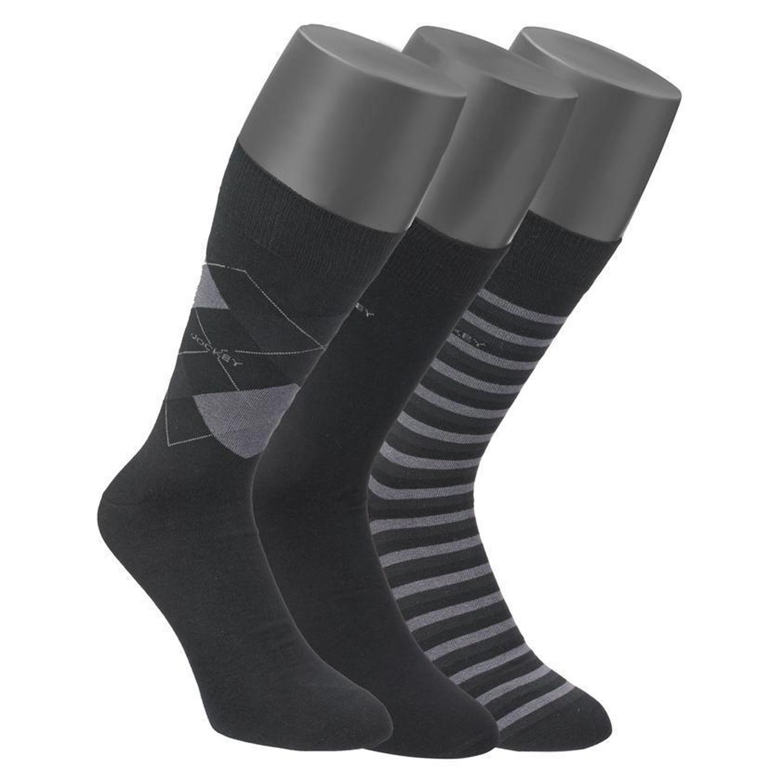 Detailbild zu Herren Socken im Dreierpack schwarz gemustert von Jockey bis Größe 46