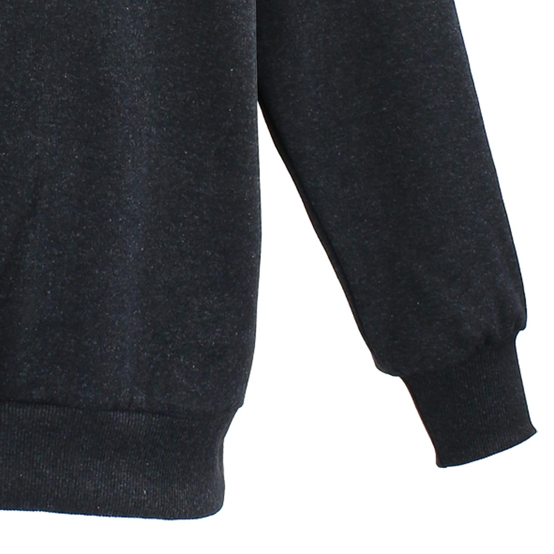 Detailbild zu Dunkelgraues Sweatshirt mit Polokragen von Lavecchia in Übergrößen 3XL - 8XL Herren