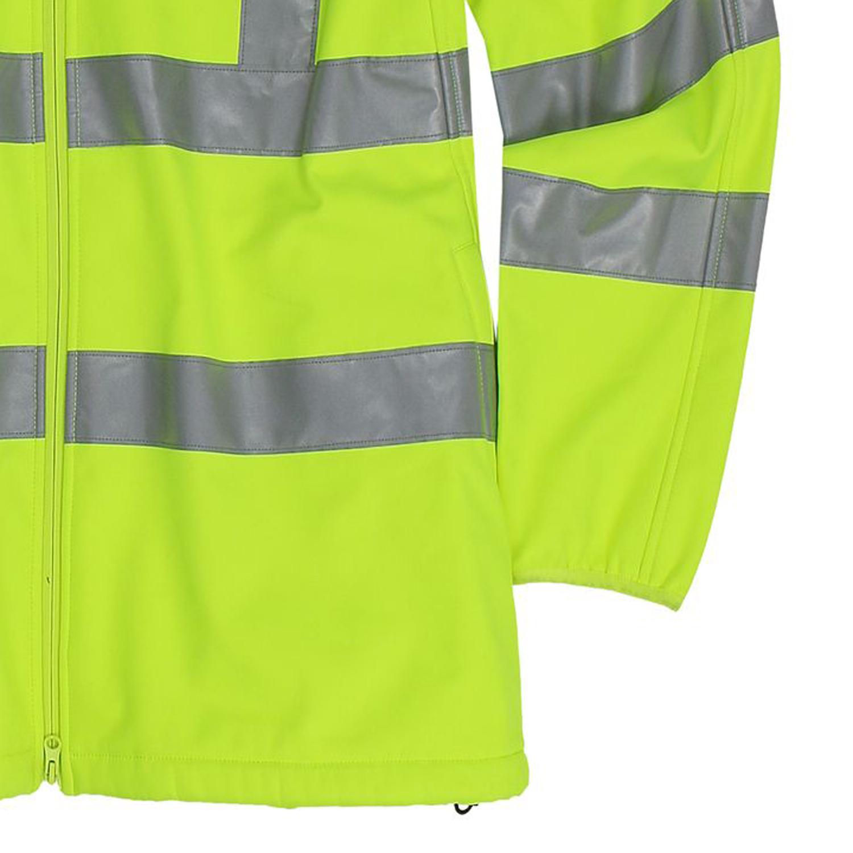 Detailbild zu  Warnschutz Arbeits- Softshelljacke / Softshellweste in neongelb von Marc&Mark bis Übergröße 10XL