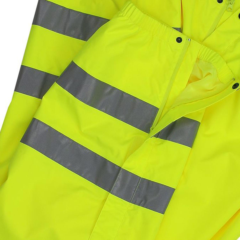 Detailbild zu Funktions- Arbeitshose Warnschutz neongelb von marc&mark in großen Größen 3XL-10XL