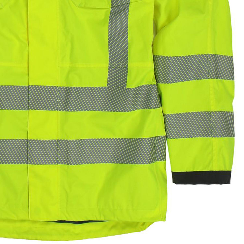 Detailbild zu Funktions- Arbeitsjacke Warnschutz von marc&mark in neongelb bis Übergröße 10XL