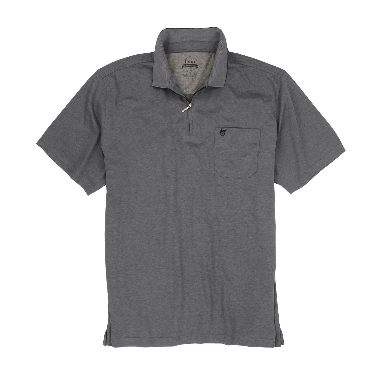 Detailbild zu Herren Kurzarm Polo Shirt SOFTKNIT von Hajo in Übergrößen bis 6XL - silber meliert