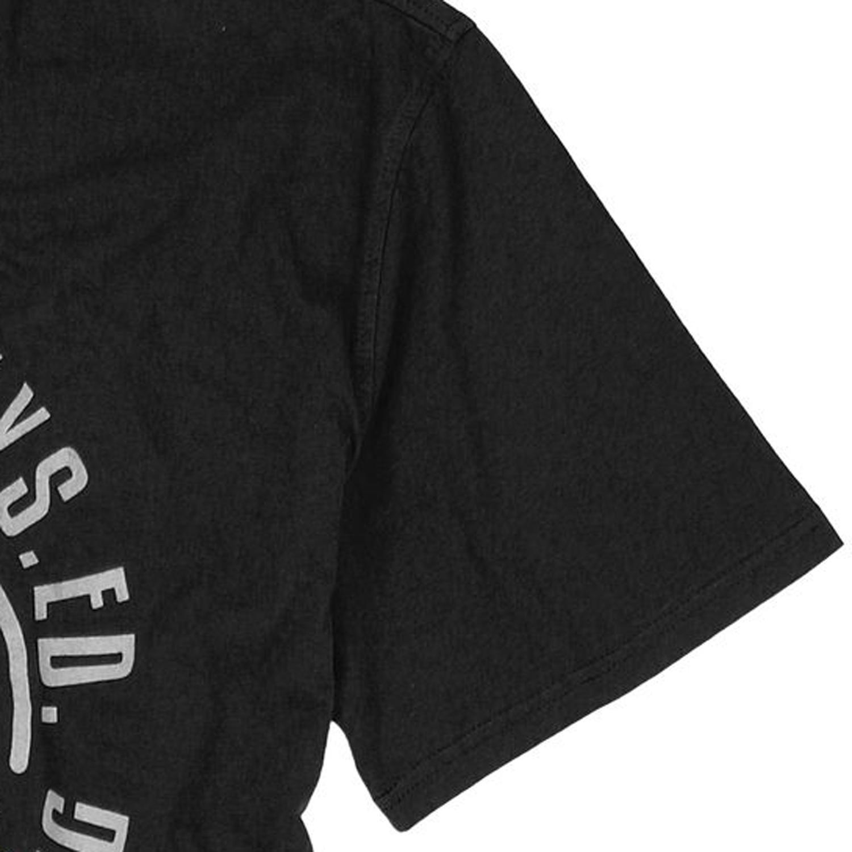 Detailbild zu Herren Rundhalsshirt halbarm in schwarz mit Frontaufdruck von Redfield bis Übergröße 10XL