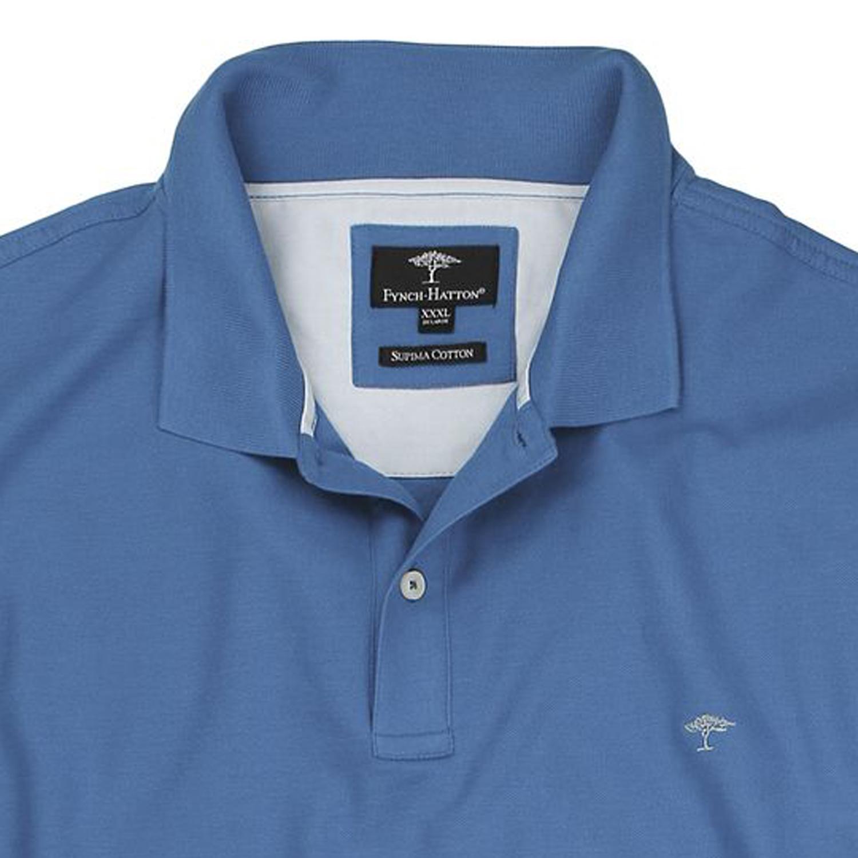 Detailbild zu Blaues Piquè-Polo von Fynch-Hatton in großen Größen bis 6XL für Herren